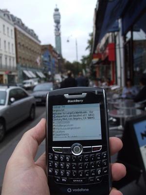 telnic blackberry application