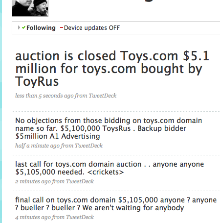 toys.com auction