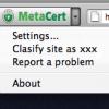 Report a site to MetaCert
