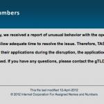 New TLD Application System - Still Offline