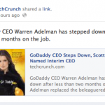 Techcrunch didn't do basic fact checking before running a story on GoDaddy