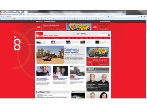 .ca take over the front of La Presse