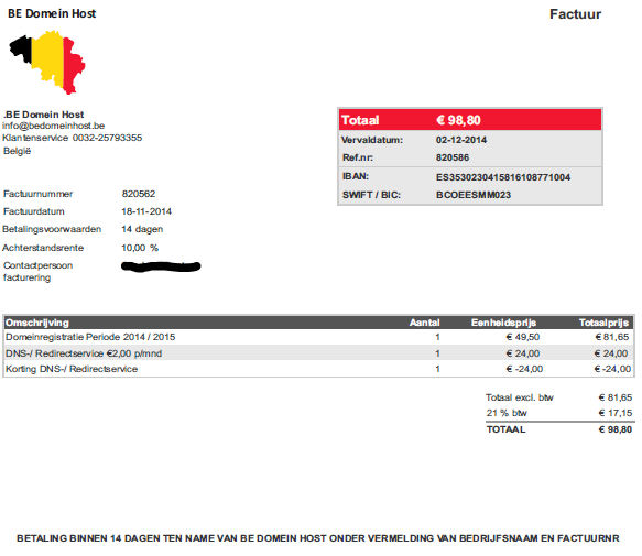 sample-invoice-BE-Domein-Host