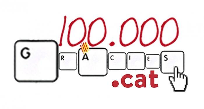 .cat registry breaks 100 thousand domains registered