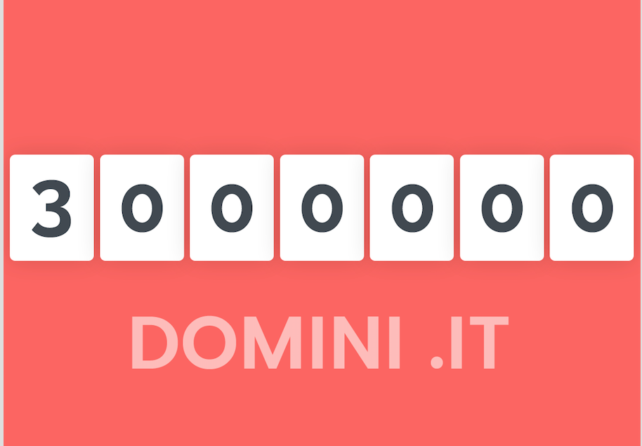 .it registry announces 3 million domains registered