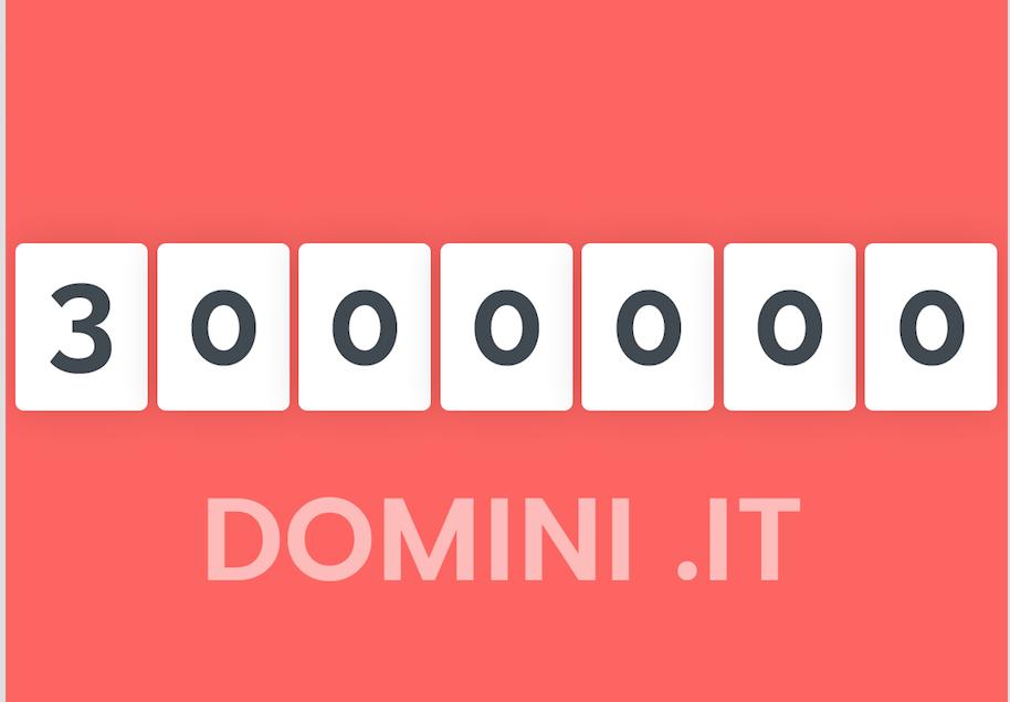 .it registry announces 3 million domains registered