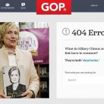 The GOP's 404 page