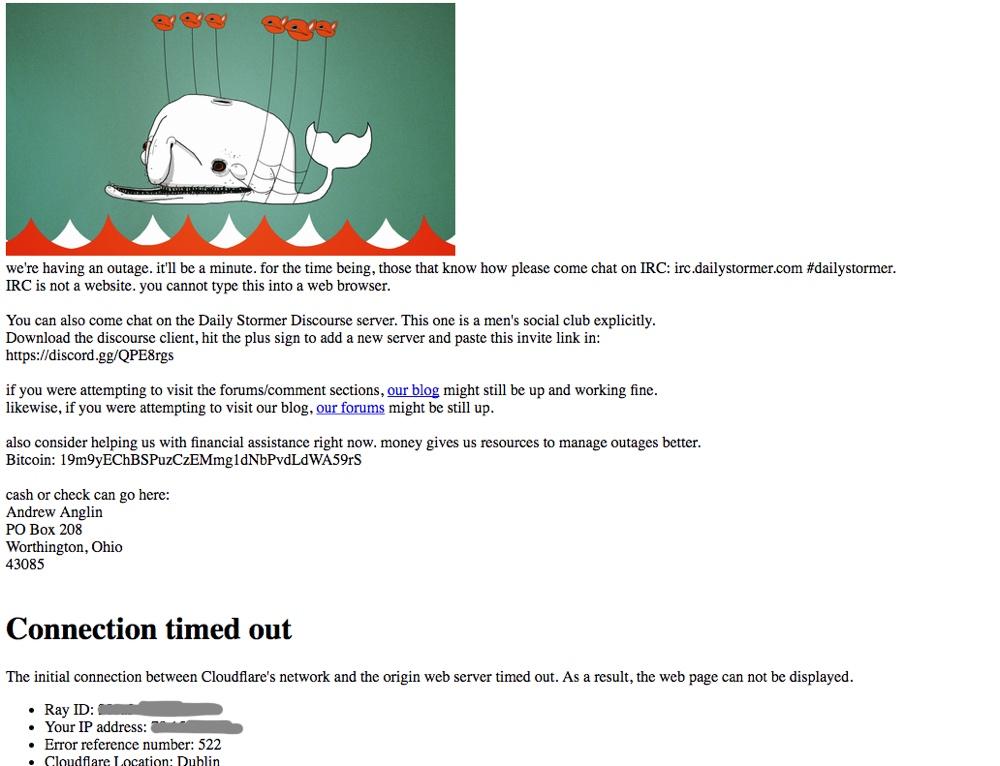 DailyStormer Offline as Google Pulls Domain Registration