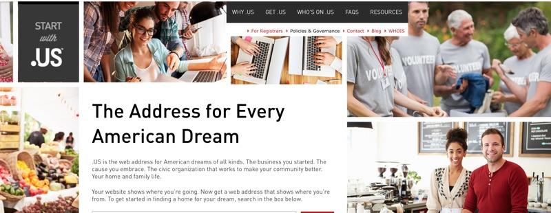 DotUS website header